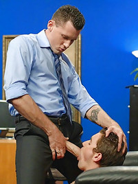Hot gay office porn